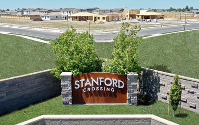 Stanford Crossing, a new master-planned community in one of Northern California's most centrally located and up-and-coming cities – Lathrop, will eventually house more than 1,500 single-family homes and over 250 apartment residences. The first phase underway is being developed on an 88-acre parcel and will feature 418 residences. Currently available are single-family houses starting in the mid $300,000s.