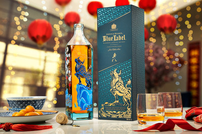 The new Johnnie Walker Blue Label Chinese New Year limited edition bottle and pack.