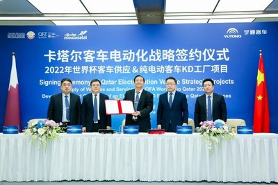 Yutong Bus signed a framework agreement with Qatar Free Zones Authority (QFZA) and Mowasalat to establish a KD factory in Qatar.