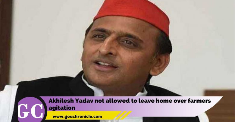 Akhilesh Yadav not allowed to leave home over farmers agitation