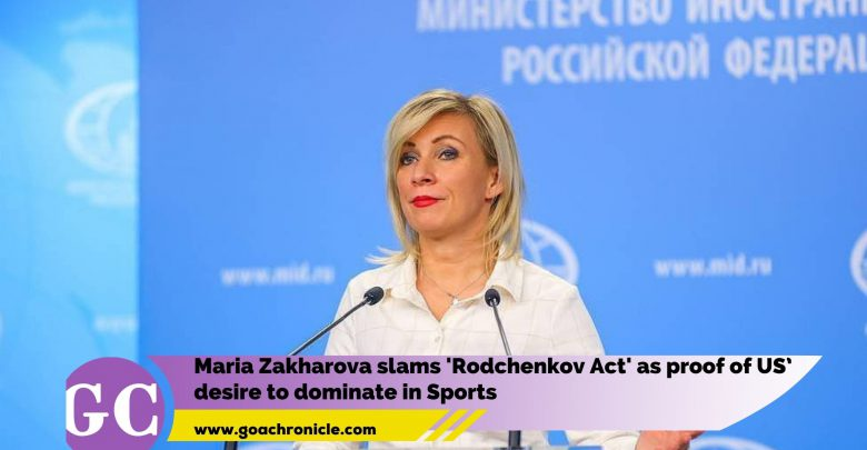 Maria Zakharova slams 'Rodchenkov Act' as proof of US' desire to dominate in Sports