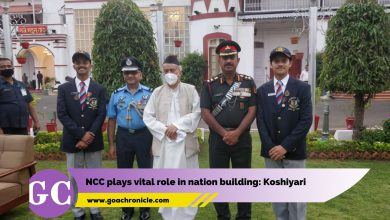 "Panaji: Goa Governor Bhagat Singh Koshyari on Wednesday said that National Cadet Corps (NCC) is an institution that plays a vital role in teaching the students about the nation and nation building. Speaking after felicitating NCC cadets of Goa and Karnataka at Raj Bhavan, he said, ""NCC provides a platform for youth in developing their personality and imbibe upon them the importance of discipline in life."" He stressed the need for well disciplined, well characterised people to lead and take nation ahead and appreciated the cadets for opting NCC. At the Republic Day, 2021 the NCC contingent of Goa and Karnataka stood at 4th place. Mr Koshyari presented cadets with mementoes on this occasion, followed by the cadets sharing their experiences. Deputy Director General, Karnataka and Goa NCC Directorate, Air Commodore Lalit Kumar Jain, also spoke on the occasion. Flag officer Naval Aviation Rear Admiral Philipose George, Comdt. 2Signal Training Centre Brig. Sanjay Rawal, Secretary to Governor R Mihir Vardhan, IAS, Jt Secretary to Governor Gauresh Shankhwalkar, Asst. Comptroller Sandesh Gadkari, NCC Officers, Associate NCC Officers RDC Contingent of Goa, Group Comm Col K Sriniwas, Belagavi, Director of Sports and Youth Affairs M Chaitanya Prasad were among those present at the function."