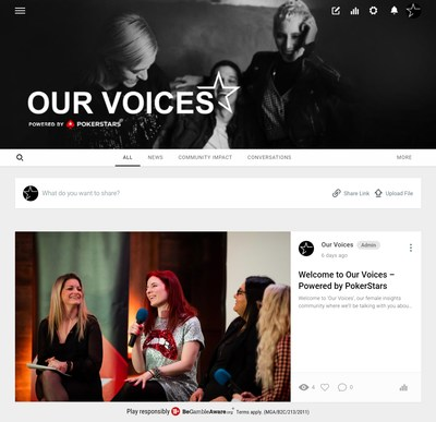 Our Voices, a new female insights community to talk all things poker