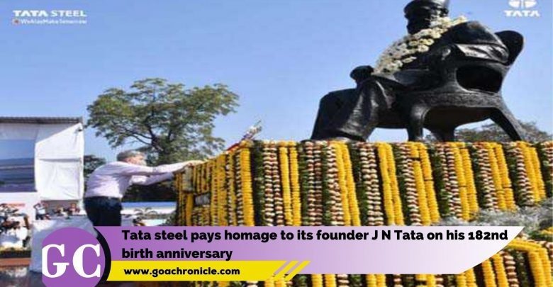 Tata steel pays homage to its founder J N Tata on his 182nd birth anniversary
